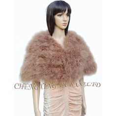 Epacket Free Shipping~CX-B-87D Real Feather Fur Shawl Poncho Stole Shrug Cape Tippet Amice