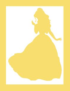 princess party, Belle silhouette for backdrop