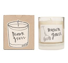mown grass candle