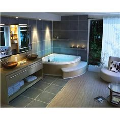 Corner Spa Bath...i know my husband would probably use it as well but i'm saying this is just for me :D