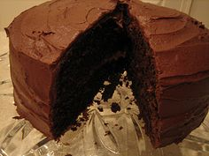 """Perfectly Chocolate… Everything! by Brown Eyed Baker . """"Perfectly Chocolate"""" Chocolate Frosting (Source: Hershey's) Hershey Chocolate Cakes, Perfect Chocolate Cake, Chocolate Frosting Recipes, Chocolate Chocolate, Homemade Chocolate, Chocolate Buttercream, Just Desserts, Delicious Desserts, Cake Recipes"""
