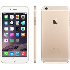 APPLE iPhone 6 Plus 16 GB, Gold ($960) ❤ liked on Polyvore featuring phone, accessories, electronics, iphone and fillers