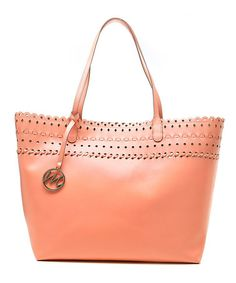 Take a look at this Coral Shannon Beach Tote by emilie m. on #zulily today!