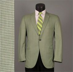 Vintage Mens Sport Coat Jacket 1960s Green Mini by jauntyrooster, $75.00