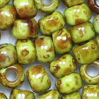 Toho Rocailles 6/0 Fb-Nr. Y 310 Hybrid Apfelgrün Picasso 5g - Glitzerperlen
