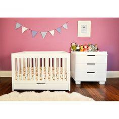 Modern Room Furniture babyletto Mercer 3-in-1 Convertible Crib with To | Modern Furniture