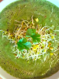 This spring green soup is crammed with nutrients; a great recipe perhaps to help detox from the excesses of the Christmas season!