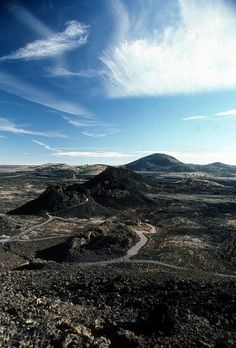 Volcanic Spatter Cones at Craters of the Moon National Monument & Preserve in Idaho