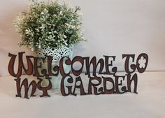 WELCOME to my GARDEN sign made of Rustic Rusty Rusted Recycled Metal on Etsy, $22.00