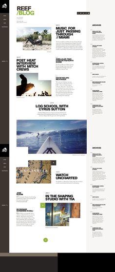 Web | Reef Concept on Behance #web #webdesign #design #layout #grid #surf #ecommerce #fashion