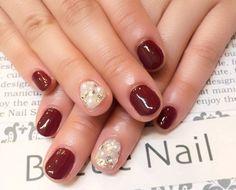 Nail Art - Beetle Nail : 八幡|ボルドーネイル