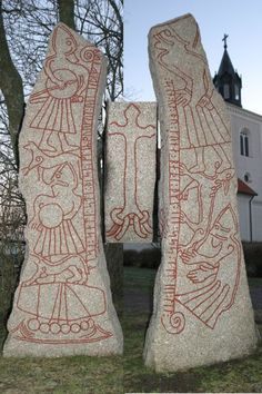 Rune stones like this, typical for Vikings, were found also in Newfoundland…