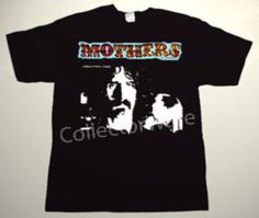 FRANK ZAPPA & MOTHERS OF INVENTION Absolutely Free CUSTOM ART UNIQUE T-SHIRT  Each T-shirt is individually hand-painted, a true and unique work of art indeed!  To order this, or design your own custom T-shirt, please contact us at info@collectorware.com, or visit  http://www.collectorware.com/tees-frankzappa_andrelated.htm