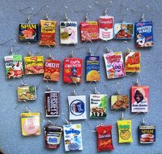 Polymer Clay Food Earrings Food earrings OMG