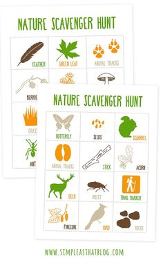Get the kids outdoors to explore with this printable nature scavenger hunt.