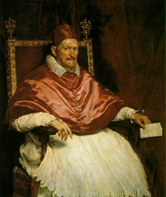 This painting is painted by Velázquez of the pope. This was quite a few decades ago, nearing a century. This shows how amazing and powerful the pope is. Velázquez is an amazing artist who made this artwork flawlessly. The pope is shown on his throne and looks very amazing with the dull coloring from the portrait. #2B