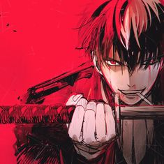 Hijikata Toushirou- The demon vice-chief of the Shinsengumi Manga Anime, Yandere Manga, Anime Oc, Manga Boy, Hot Anime Boy, Cute Anime Guys, Samurai, Gaara, Kamui Gintama