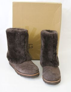 I love these boots.  If they were my size they wouldn't have made it into the eBay store.UGG Maylin Women's Boots Brown Suede Sheepskin Size 9 M NEW