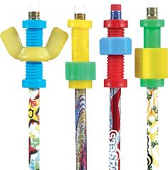 pencil topper - fidgets for school. I LOVE these!