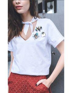 T-Shirt Broche Insetos Kitsch \ T-shirt kitsch | Broche | Insetos | tendências