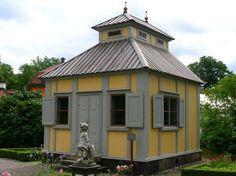 Emanuel Swedenborg (1688- 1772) had this lusthus built for him in 1750.  Swedenborg was a Swedish scientist, philosopher, theologian, revelator, and mystic.