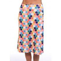 NEW honeycomb print below knee modest running skirt