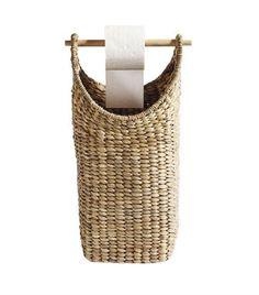 Support et rangement papier toilette en jacinthe d'eau Muubs  http://www.homelisty.com/porte-rouleaux-papier-toilette-chic/