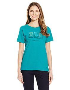 Life Is Good Womens Crusher Vee T-Shirt Beach Chair Strip