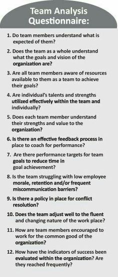 Performance Coaching [RfQ] - Team Building Questionnaire to reflect on or prepare for the experience