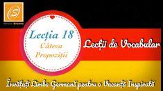 Lecția 18 - Câteva Propoziții - Lecții de Vocabular in Limba Germană - YouTube Chart, Youtube, Youtubers, Youtube Movies