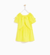 Image 2 of POPLIN DRESS WITH BACK BOW from Zara