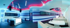 Futuristic Design: Krysha Cafe by Grosu Art Studio