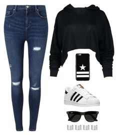 """""""Untitled #2454"""" by twerkinonmaz ❤ liked on Polyvore featuring Miss Selfridge, adidas, Givenchy, Ray-Ban and Maison Margiela"""