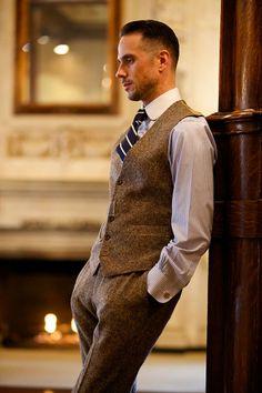 Tweed Waistcoat and Pants. http://hespokestyle.com/tweed-waistcoat-pants/