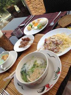 タイは只今昼の9:00。 今はリサーチ中ー♡ 今日は珍しく朝ごはん食べた。 いつも食べない朝食が食べたくなる…♡