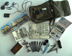 Travel Journal-Art Diary-Eclectic Art| Serafini Amelia| Paul Heaston's sketching kit...