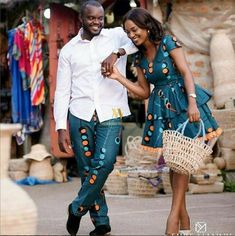 Need matching outfits inspiration for you and bae? Look no further, we've curated some of the most simple, chic and sophisticated Ankara styles for couples…. Couples African Outfits, Couple Outfits, African Attire, African Wear, African Women, African Dress, African Style, Couple Clothes, African Fashion Designers