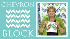 The Chevron Block Quilt: Easy Quilting Tutorial with Jenny Doan of Misso...