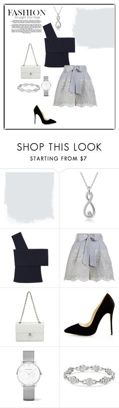 """""""Inverted Triangle Shape- Lady"""" by jess-thomas14 on Polyvore featuring Rosetta Getty, Zimmermann and Chanel"""