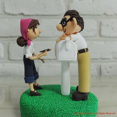 Lovely coupleCarl and Ellie in the animated movie Up by annacrafts, $200.00