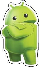 "Android Logo Green Robot With Crossed Arms vinyl sticker. One 3""x2"" vinyl sticker is free of charge! Coupon Code is freesticker. Get the item from our online store: http://anysigns.ca/index.php?main_page=product_info&cPath=62&products_id=1149"