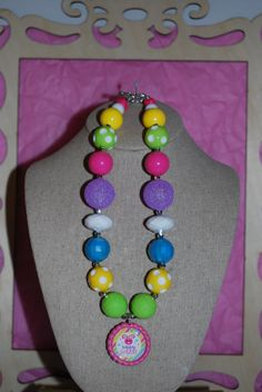 Chunky Bead & Bottle Cap Necklace  Hoppy by beadazzledkiddos, $17.00