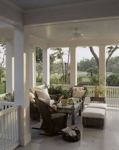 Pretty front porches, Southern charm This Repin is intended for the design inspiration of clients and friends of https://StebnitzBuilders.com