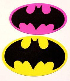 Batman / Batgirl logo/ superhero birthday party theme