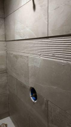 Modern bathroom design 553168766731033152 - Wall ready for the glass mosaic border Source by chantalagostini Diy Bathroom Remodel, Shower Remodel, Bathroom Renovations, Rental Bathroom, Tub Remodel, Restroom Remodel, House Remodeling, Remodeling Ideas, Bathroom Design Luxury