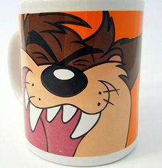 Tazmania Devil Taz Coffee Mug Looney Tunes Orange Face Brown Body Teeth 1998 Looney Tunes http://www.amazon.com/dp/B00SI01TJK/ref=cm_sw_r_pi_dp_zoH3vb1V617WN