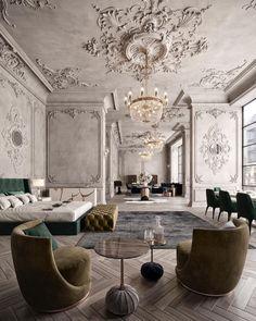 Adorable 43 Stunning Contemporary Interior Design Ideas For Your Home Contemporary Interior Design, Luxury Interior Design, Interior Decorating, Decorating Kitchen, Modern Design, Classic Interior, Best Interior, Style At Home, Stylish Home Decor