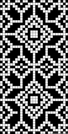A61554 - friendship-bracelets.net Knitting Charts, Knitting Patterns, Navajo Pattern, Tapestry Crochet Patterns, Beading Patterns Free, Alpha Patterns, Chart Design, Hand Embroidery Stitches, Fair Isle Knitting