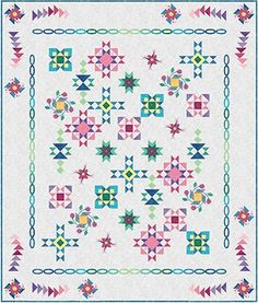 Artisan Spirit BOM Complete Quilt Top Kit Includes Rulers