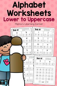 Alphabet Worksheets – Match Lower and Uppercase Letters Dab It! Alphabet Worksheets - Match Lower and Uppercase Letters - Mamas Learning CornerDab It! Alphabet Worksheets - Match Lower and Uppercase Letters - Mamas Learning Corner 2nd Grade Worksheets, Alphabet Worksheets, Tracing Worksheets, Preschool Letters, Learning Letters, Snap Words, Letter Activities, Toddler Activities, Numeracy Activities